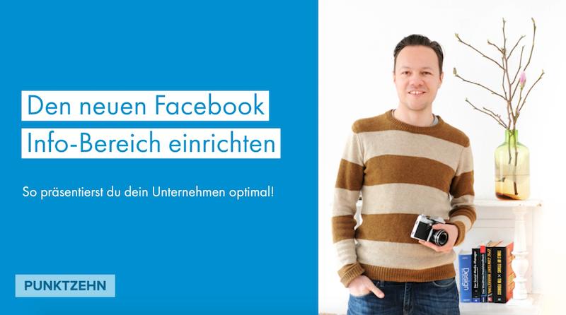 Facebook Info Bereich einrichten