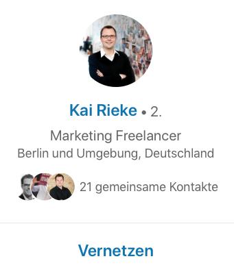 LinkedIn Kontakte zweiter Grad