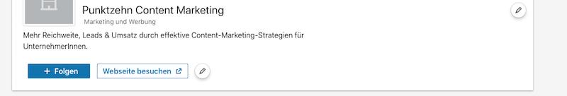 LinkedIn Updates Button Unternehmensseiten1