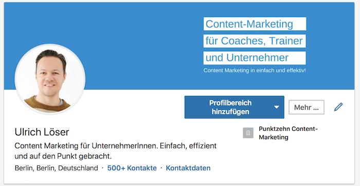 LinkedIn SEO Profilbild