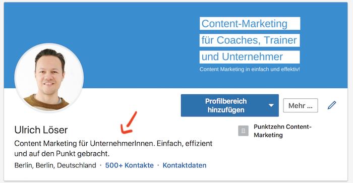LinkedIn SEO Profilslogan