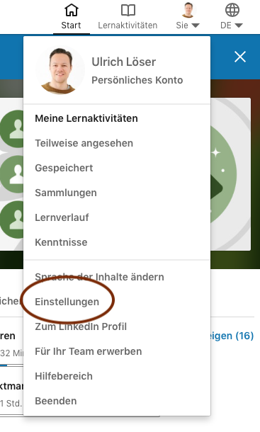 LinkedIn Learning kündigen 1