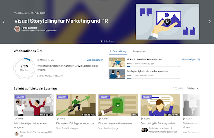 Startseite LinkedIn Learning